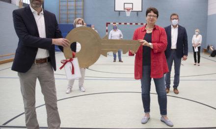 Sanierungsarbeiten an der Turnhalle der Borngrabenschule abgeschlossen