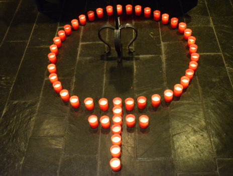 Gedenken mit 51 Kerzen