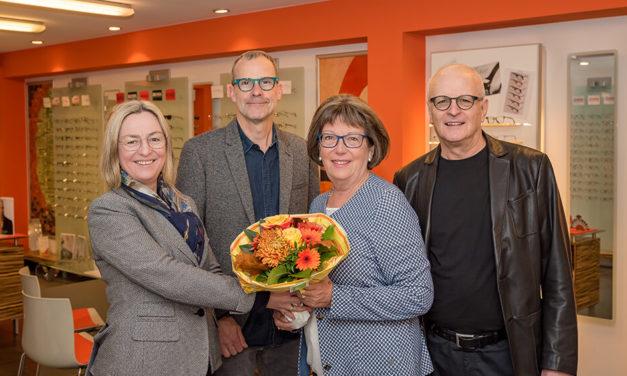 40 Jahre – so lange ist Ursula Nagel ein fester Bestandteil der Firma Brillen-Krug