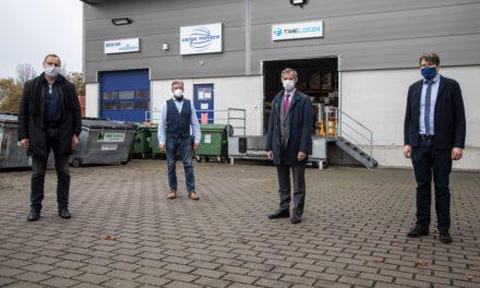 Oberbürgermeister Udo Bausch besucht die Cargo Movers GmbH