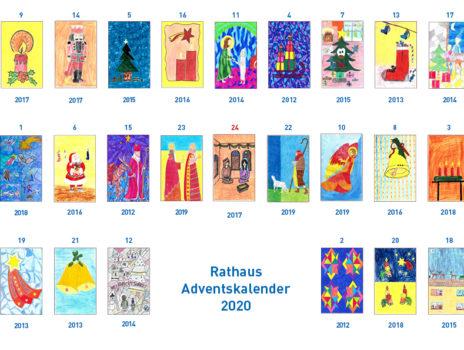 Rathaus-Adventskalender mit einer Auswahl der vergangenen Jahre