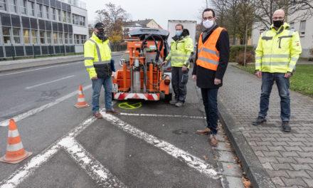 Bohrungen für Baugrundanalyse der Walter-Flex-Straße