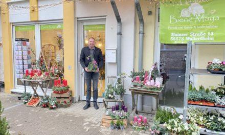 """<span class=""""entry-title-primary"""">Erster Blumenladen in Bodenheim</span> <span class=""""entry-subtitle"""">Mit der Eröffnung des Blumenladens Biene Maya gingen Wünsche in Erfüllung</span>"""