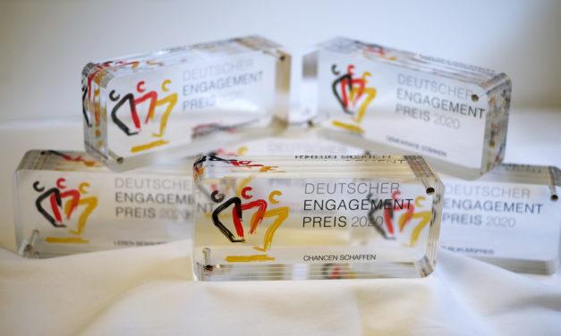 """<span class=""""entry-title-primary"""">Verleihung Deutscher Engagementpreis 2020</span> <span class=""""entry-subtitle"""">Dachpreis für freiwilliges Engagement wird an sechs Preisträgerinnen und Preisträger verliehen </span>"""