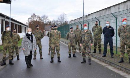 Bundeswehrsoldaten unterstützen auch Impfzentrum