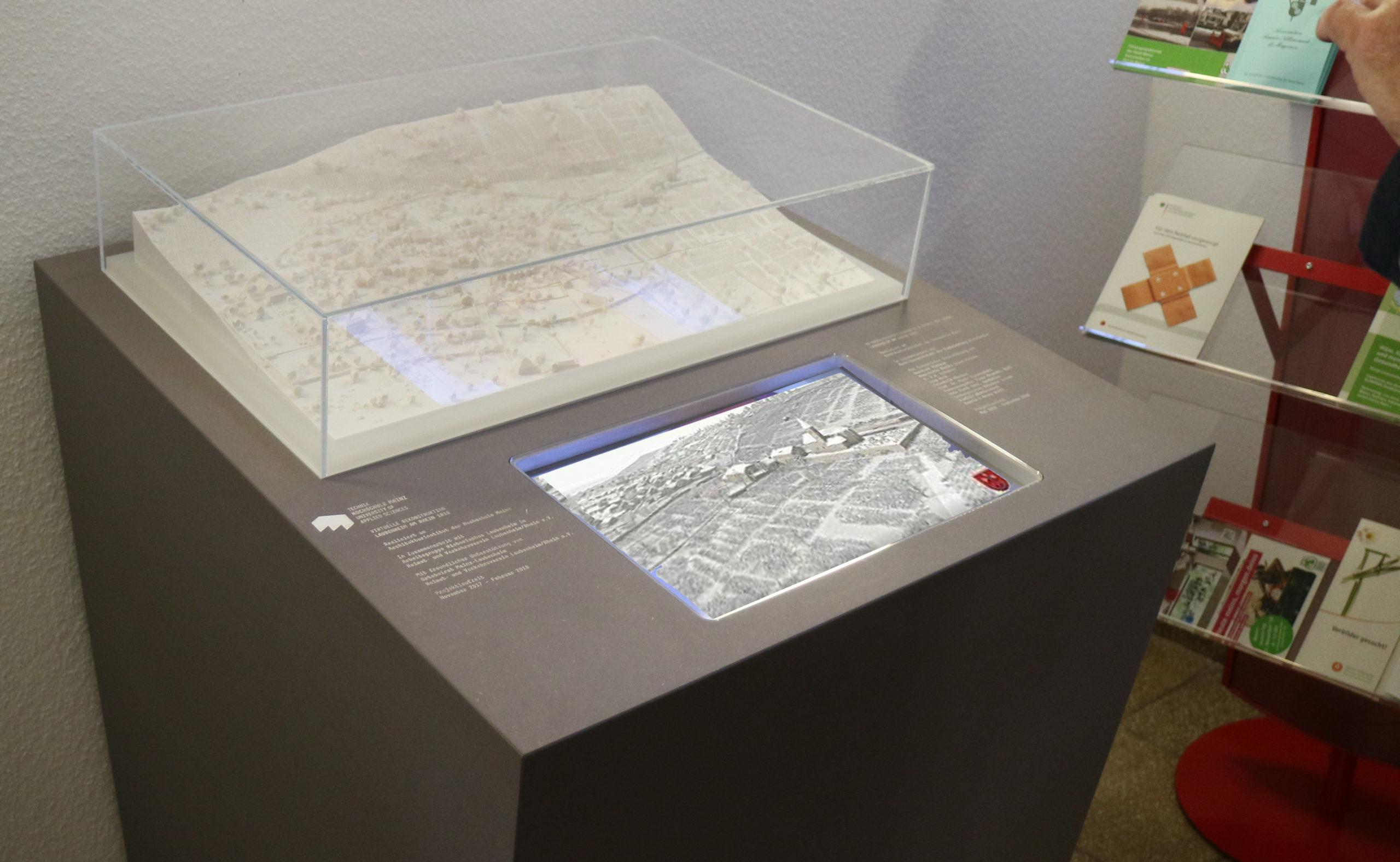 3D-Modell des historischen Laubenheim im Jahr 1810. Foto: AG Historisches Laubenheim