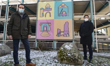 """Großformatige Illustrationen für das Parkhaus """"An der Festung"""""""