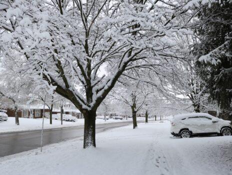 Gehweg räumen bei starkem Schneefall