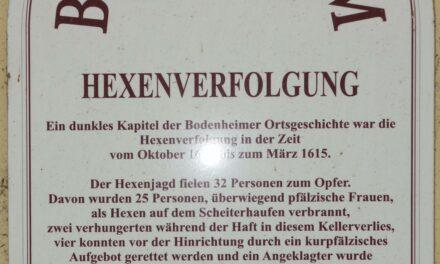 """<span class=""""entry-title-primary"""">32 Bürgerinnen und Bürger starben auf dem Scheiterhaufen</span> <span class=""""entry-subtitle"""">Gemeinde Bodenheim will """"Hexenmuseum"""" einrichten </span>"""
