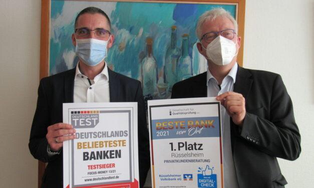 """<span class=""""entry-title-primary"""">Auszeichnungen für heimisches Kreditinstitut</span> <span class=""""entry-subtitle"""">Rüsselsheimer Volksbank ist beste Bank vor Ort und zählt zu den beliebtesten Banken Deutschlands</span>"""