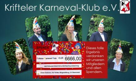 """<span class=""""entry-title-primary"""">Krifteler Karneval-Klub</span> <span class=""""entry-subtitle"""">Sensationeller Spendenerfolg nach Sofa-Fastnacht</span>"""