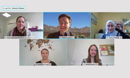 Grieser begrüßt neue Schulsozialarbeiterinnen in Videokonferenz