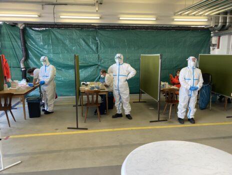 Testzentren in Betrieb
