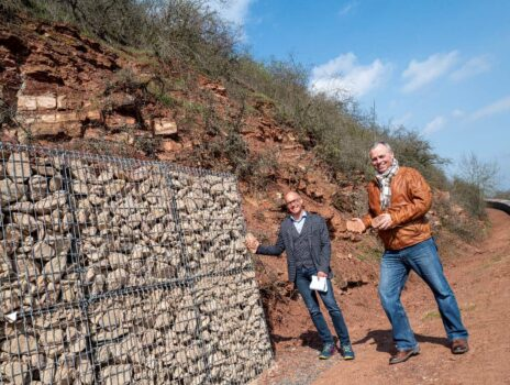 Steinschlagsicherung im Naturschutzgebiet Rothenberg erfolgreich abgeschlossen