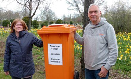 Blumenzwiebelspenden für Rüsselsheimer Friedhöfe