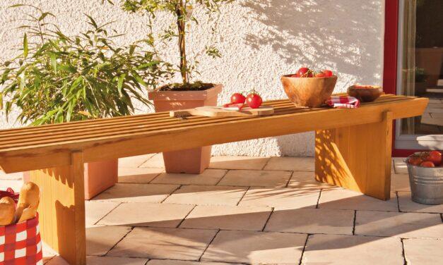 Die Terrasse ist das Herz des Gartens