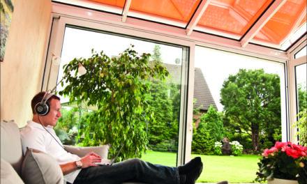 Ein Wintergarten braucht Sonnenschutz