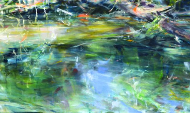 Die Farben des Wassers im Kunstforum Mainturm