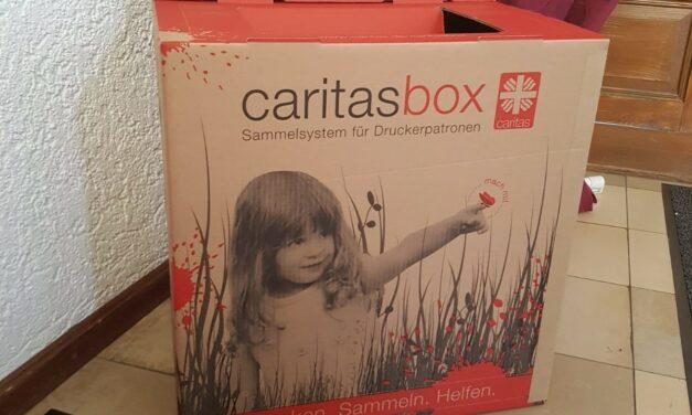 Caritas Druckerpatronensammelbox ab sofort im Rathaus Nierstein