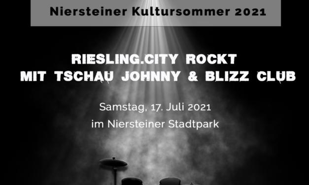 """<span class=""""entry-title-primary"""">Riesling.city rockt – Konzert mit Tschau Johnny und Blizz Club am 17. Juli im Niersteiner Park</span> <span class=""""entry-subtitle"""">Die Niersteiner Band Tschau Johnny und die Mainzer Band Blizz Club rocken den Park im Rahmen des Niersteiner Kultursommer 2021.</span>"""