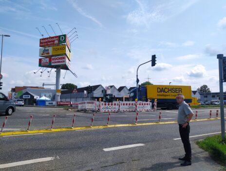Ampel an der Kreuzung Gutenbergstraße