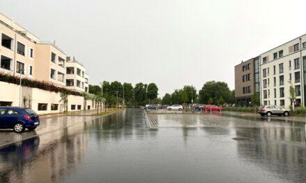Fertigstellung des neuen Parkplatz Königsberger Carré
