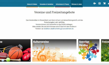 Vereine können sich online auf www.main-ruesselsheim.de präsentieren