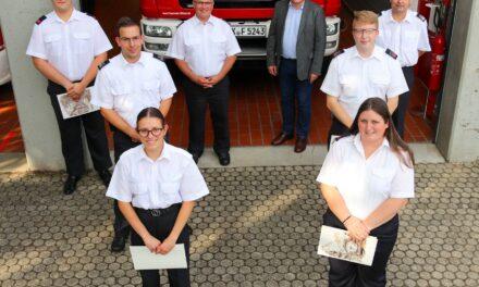 Neue Führungskräfte bei den Flörsheimer Feuerwehren ernannt