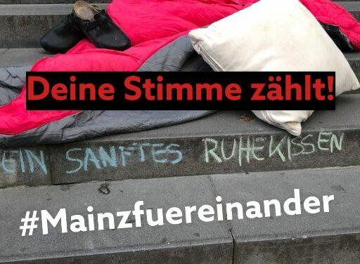 """<span class=""""entry-title-primary"""">#mainzfuereinander: Obdachlose retten Mainzer Gastros</span> <span class=""""entry-subtitle"""">Deine Stimme für Mainz – jetzt abstimmen beim Deutschen Engagementpreis</span>"""