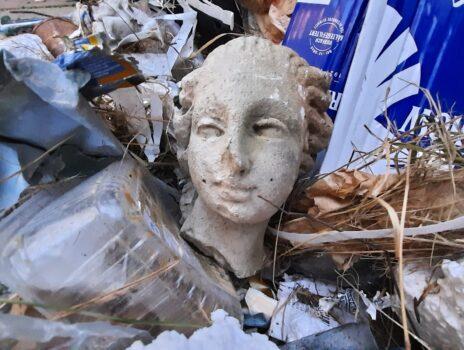 14 große Müllsäcke gefüllt