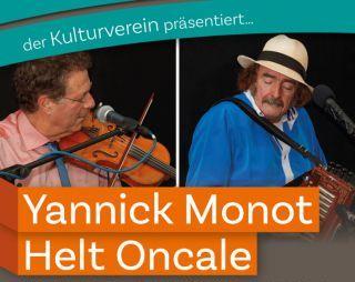 Yannick Monot und Helt Oncale 8. Oktober 2021 – 20 Uhr in der evangelischen Kirche Guntersblum