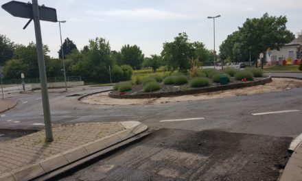 Bis Mitte Juni: Arbeiten am Bodenheimer Kreisel