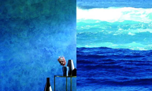 Blau erobert den Wohnraum